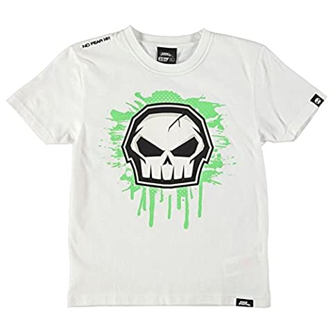 No Fear Kids Junior Boys Core Graphic T Shirt Short Sleeve Crew Neck Tee Top White 9-10 (MB)