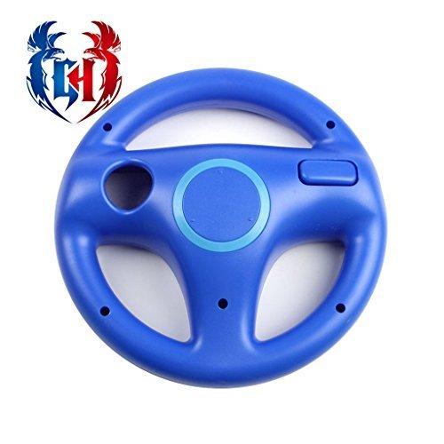 Wii U Wii Lenkrad Original Weiß für Rennspiele Mario Kart Racing Wheels blau Kinopio Blue (8 Kart Racing Mario Wheel)