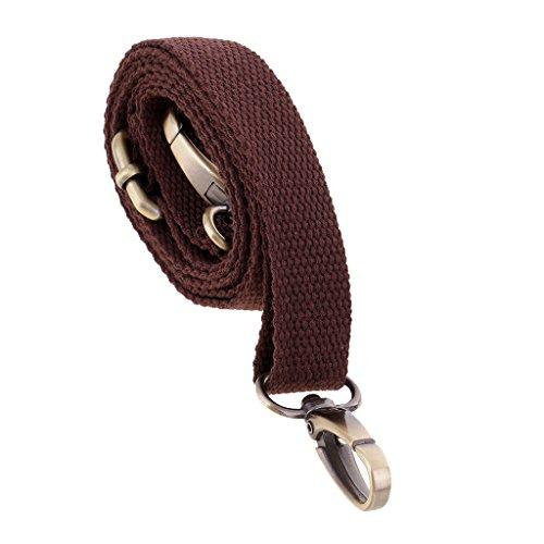 Sharplace Adjustable Canvas Handbag Shoulder Bag Strap Handle Replacements Bag Accessories for Purse Making 120cm - Coffee