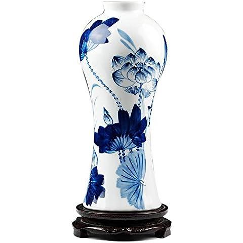 Loopsd Porcellana blu e bianco a mano - Dipinto di