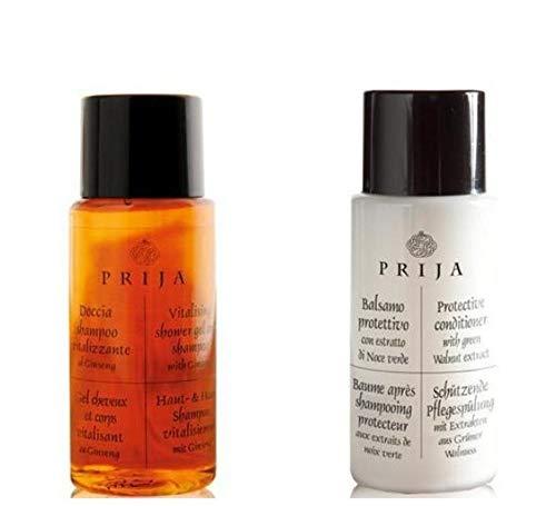 Prija Hotel Toiletries 100 unités de gel pour le corps et les cheveux et revitalisant