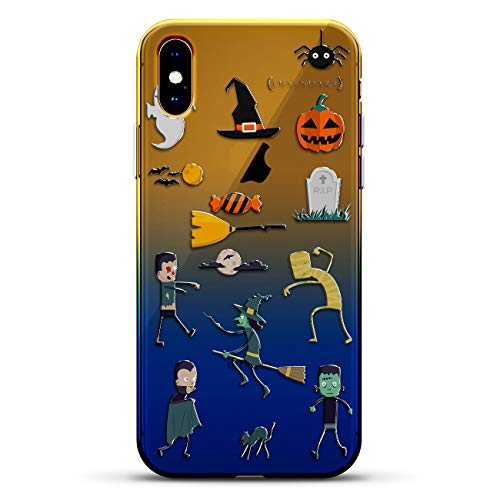Luxendary Pokemon Go Inspired Valor Design Chrome Series Schutzhülle für iPhone, Fantasie: Halloween, lustig, schaurig, Zombie, Geist, Hexe, Blau (Dusk Blue)