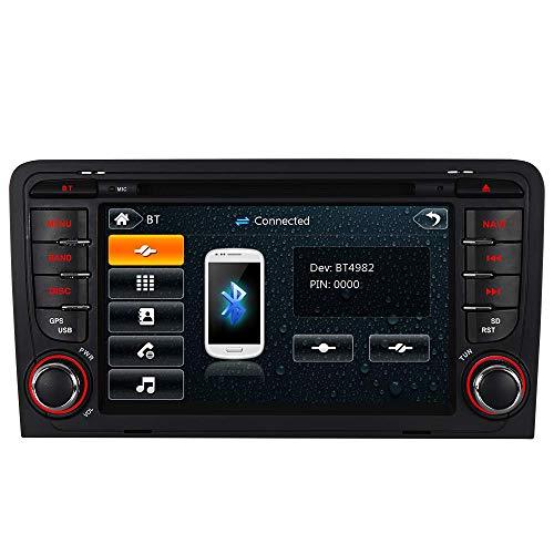 "7"" AUTORADIO MIT 3G DVD GPS Navigation USB SD Bluetooth Autoradio CD Moniceiver+Bluetooth+ Dual Zone+Subwoofer+DAB+VMCD Für Audi A3 S3 RS3 8P 8V 8PA (Bilaterale Taste)"
