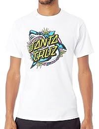 Santa Cruz Shark Dot Men's T-shirt - White