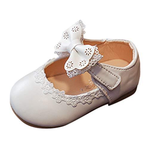 DIASTR Kindersandalen Geschnürt Perle Schuhe Mary Jane Halbschuhe Prinzessin Schuhe Weichen Boden Schuhe Bögen Ballerinas Urlaub Kinderschuhe