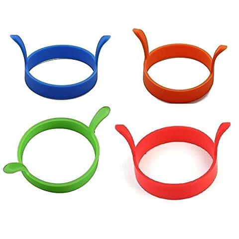 Winstory 4pcs Küche Kochen Silikon Gebratener Ofen Wilderer Pfannkuchen Ring Form Ei Puppe Random Farbe