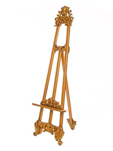 Staffelei Bildhalter Notenständer 178cm Nostalgie antik Stil goldfarben easel