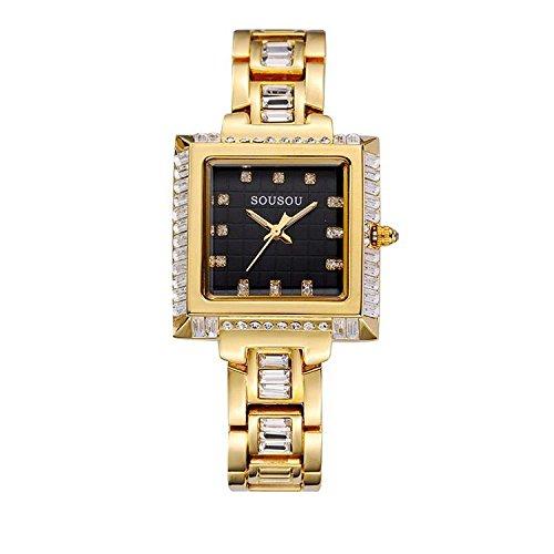 Piazza strass moda orologi da donna orologio , gold 3