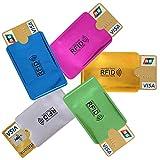 5X RFID Schutzhülle Blocker NFC Datenschutz f. EC Karte Kreditkarten Ausweis usw in 5