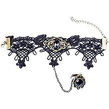 (M1) Anillo baciamano pulsera estilo gótica con