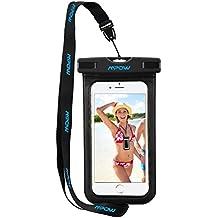Mpow Fundas iPhone 6s 6 5s Huawei P8 Lite Bq aquaris x5 Xiaomi, Bolsa Playa Grande IPX8 Certificado Impermeable con Pantalla Táctil Sensible y Correa Ajustes.
