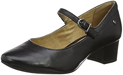 Femmes Noir Mary Jane Shoes - Hush Puppies Nara Discover - Mary Jane