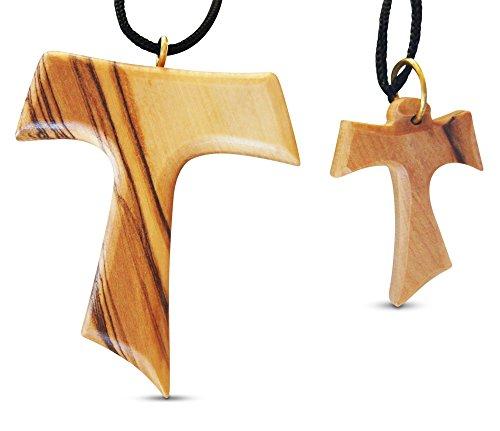 2teilige Tau Kreuz groß & klein oliv Holz Ketten Made in Bethlehem von Roman Merk