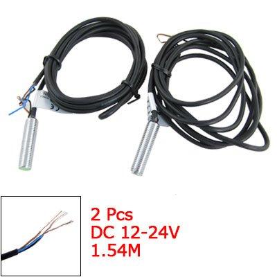 Sourcingmap a11052300ux0140 - 2pezzi pr08-1.5dn 1,5 millimetri di rilevamento del sensore di prossimità induttivo passare cc 12-24v npn no a 2 fili