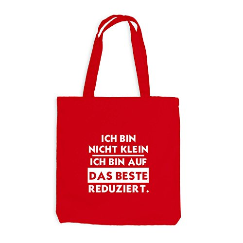 Jutebeutel - Ich bin nicht klein - beste reduziert - Sprüche Fun Rot