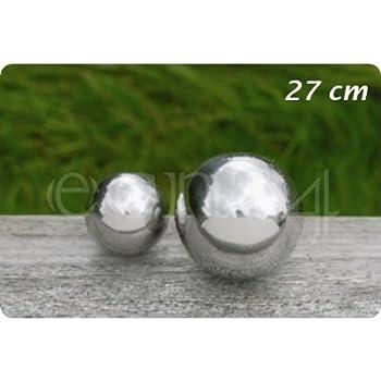 Galaxy Ball / flotteur - bille en acier inoxydable de différentes tailles, boule étang, größe:Ø 27cm
