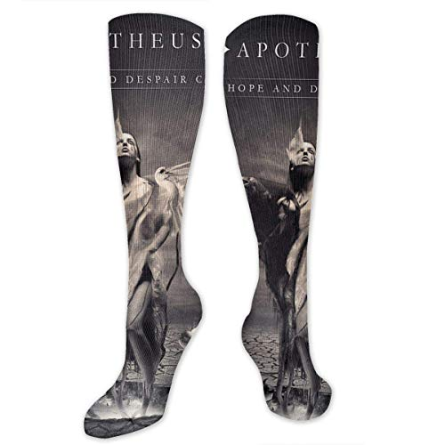 (NFHRREEUR Knee High Socks Halloween Women with Swings Raven Compression Socks Sports Athletic Socks Tube Stockings Long Socks Funny Personalized Gift Socks for Women Teens Girls)