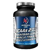 BCAA 2:1:1 - 2400 mg - tabletas de aminoácidos ramificados - leucina, isoleucina y...