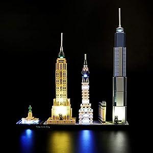 LIGHTAILING Set di Luci per (Architecture New York City) Modello da Costruire - Kit Luce LED Compatibile con Lego 21028… 0746362888978 LEGO