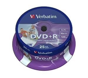 Verbatim Dvd+r 4.7GB Printable - Confezione da 25