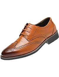 Zapatos De Cuero Hombre,ZARLLE Zapatos De Cuero Casual De Los Hombres Zapatos Planos con