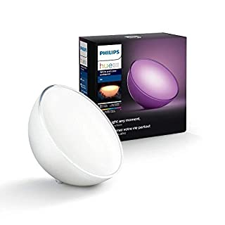 Philips Hue Go LED Leuchte, tragbares, kabelloses Licht, dimmbar, bis zu 16 Millionen Farben, stuerbar via App, kompatibel mit Amazon Alexa, EU-Stecker (Echo, Echo Dot)