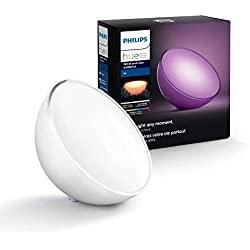 Philips Lighting Hue Go, White & Color Ambiance, Lampada Portatile, Bianco