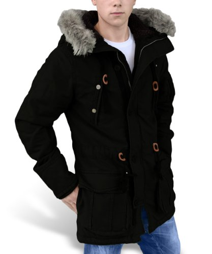 Surplus Herren Jacke Trooper Surpreme Parka 20-3523 Schwarz