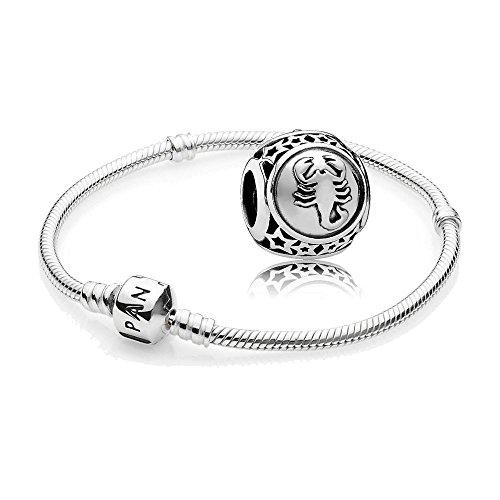 Original-Pandora-Geschenkset-1-Silber-Armband-590702HV-und-1-Silber-Charm-Sternzeichen-Skorpion-791943
