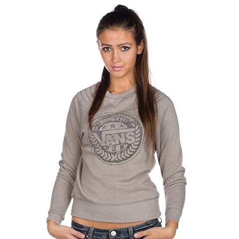 Vans Damen Pullover Shield, grey heather, S, VOFJGRH