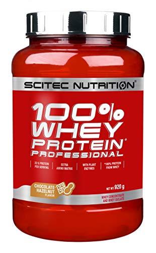 Scitec Nutrition Whey Protein Professional Proteína con Sabor de Chocolate Avellana - 920 g