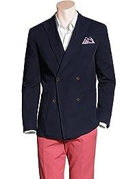 RENÉ LEZARD Herren Sakko Baumwolle Anzugjacke Unifarben, Größe: 54, Farbe: Blau