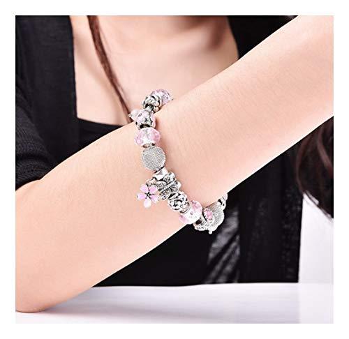 Yiyiyya onorevoli'bracciali perle smaltate semplici forme a fiore ragazze eleganti matrimoni gioielli ladies' gioielli studente doni