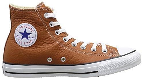 Converse Chuck Taylor All Star Core Lea Hi, Baskets mode mixte adulte Orange (17 Rouille)