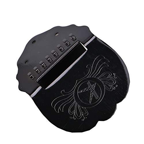 Zubehör für 8 Saiten Mandoline Metall gewellte Mandoline Saitenhalter Bubble Wrap ist auch erforderlich mit Befestigungsschrauben, einfach zu tragen Schwarz -