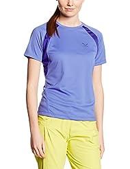 Salewa Puez (Sporty B) Dry W S/S Tee - Camiseta de manga corta para mujer, color azul, talla 52 / 46