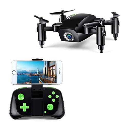 Mini Drone pieghevole a 6 assi giroscopio Altitude Hold RC Quadcopter con videocamera WiFi HD FPV...
