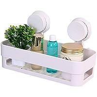 Gearmax Estantería de plástico Voguecase, estante de almacenamiento multifunción para baño de cocina (blanco).