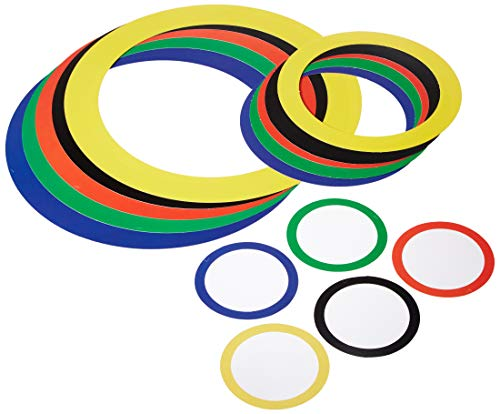Beistle Company Sports Party Rings (Asstd Colors) Party Accessory (1 Count) (15/Pkg) (Kostüm)