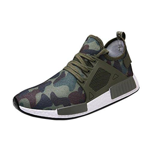 Sneakers Sportschuhe Herren, Sunday Athletische Mode Beiläufige Turnschuhe der Männer im Freien Laufende Breathable Sport Schuhe (Grün, EU: 39)