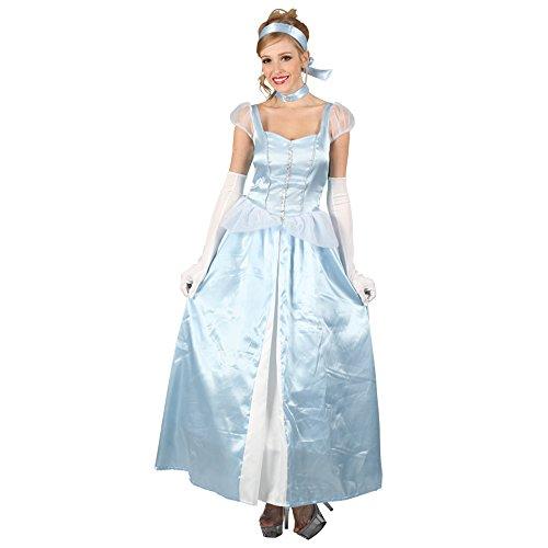 Preisvergleich Produktbild LADIES CINDERELLA COSTUME SWEET CINDERS PRINCESS LONG BLUE