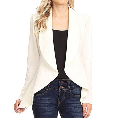 Vovotrade Damen Kurze Strickjacke Wasserfall Offener Cardigan Leichte Casuale Jacke Elegant Sommer Frühling Blazer für Damen Office -