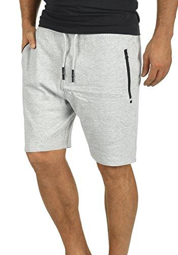 !Solid Taras Herren Sweatshorts Kurze Hose Jogginghose mit Verschließbaren Eingriffstaschen und Kordel Regular Fit, Größe:XL, Farbe:Light Grey Melange (8242)
