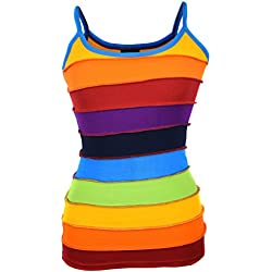LITTLE KATHMANDU - Camiseta sin mangas - para mujer multicolor Arco Iris medium