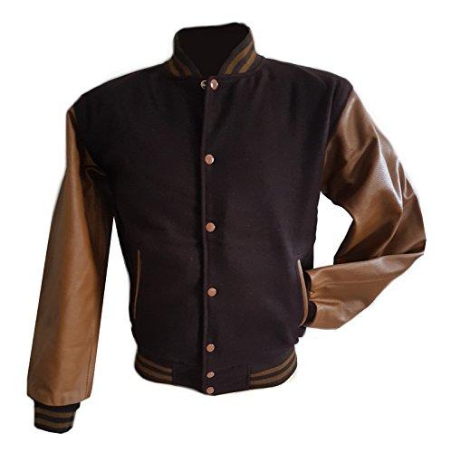 Preisvergleich Produktbild Windhound Original College Jacke braun mit braunen Echtleder Ärmel XXXL