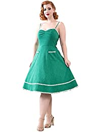 VOODOO VIXEN Deliliah 50s Rockabilly Vintage Retro Flare Dress Cocktail  Party 70379f970