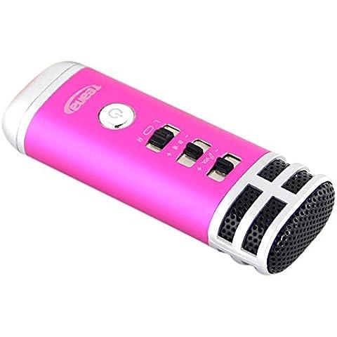 yares-tech Multicolor inalámbrico Heavy Metal 6W dual-driver portátil Bluetooth altavoz estéreo con Bluetooth 4.0, baja distorsión armónica, patentado puerto de graves y micrófono integrado para llamadas