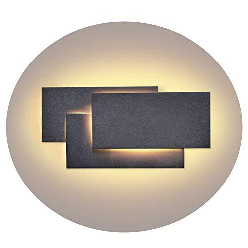 Ralbay Aplique Pared LED Impermeable IP20 Aplique Espejo Baño Diseño Sencillo Moderno 24W Blanco Cálido 2700~3200K AC85-265V Decoración para Pasillo Escalera Restaurante No Regulable