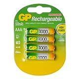 GP Batteries 1002 AAA 930 mAh 1000 10001000 Series 4 pilas recargables cardadas