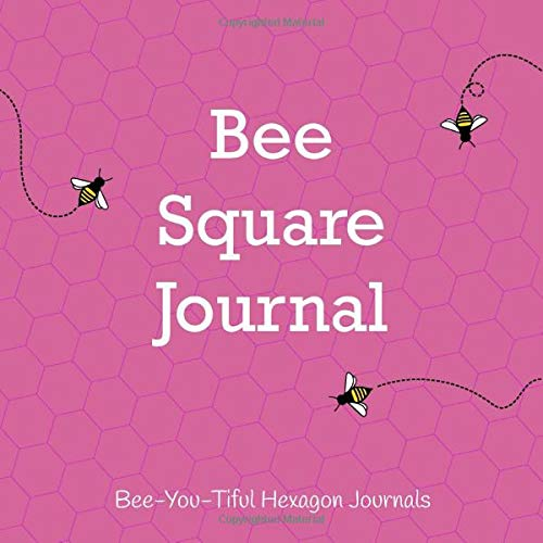 Bee Square Journal: Small and Large Hexagon Grid Graph Paper Drawing Book with Honey Bee Details with Pink Cover (Hexagon Grid Sketchbooks, Band 3) -
